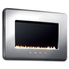 Buy Smeg Flueless Gas Fire, LPG, Silver from our Fires range at John Lewis. Flueless Gas Fires, Gas Fireplace, Kitchen Appliances, John Lewis, Lounge, Colours, Living Room, Decoration, Silver