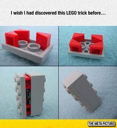 Funny pictures about I wish I had discovered this LEGO trick before. Oh, and cool pics about I wish I had discovered this LEGO trick before. Also, I wish I had discovered this LEGO trick before. Lego Design, Lego Poster, Pokemon Lego, Minifigures Lego, Lego Duplo, Lego Hacks, Construction Lego, Cuadros Star Wars, Lego Craft
