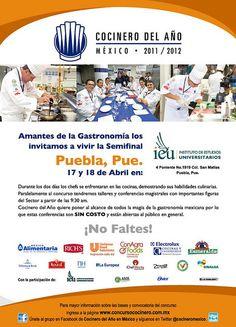 Semifinal Cocinero del Año México / Puebla / 17 y 18 Abril