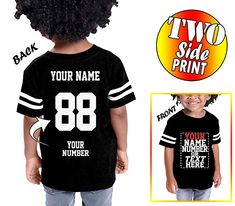 OPAWO Custom Cotton Hockey Sport Jersey Baby Romper Personalized with Name and Number Back Only