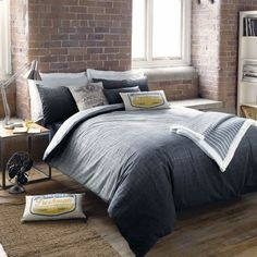 A warm and comforting bedding set in muted tones which intertwines a faded check design with a graduating palette, the Kingston Bedding range from American Freshman is the perfect choice to inject some style into your bedroom King Size Duvet Covers, Bed Covers, Grey Bedding, Linen Bedding, Modern Bedding, Bed Linen, Duvet Sets, Duvet Cover Sets, Cozy Bedroom