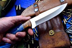 CFK USA Custom Handmade D2 Survival Hunter Skinner EDC Rosewood-Camel Bone Knife   eBay