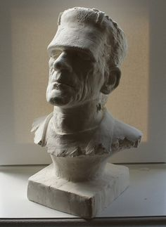 Awesome Monster of Frankenstein Bust One of a Kind by tartamella, $55.00