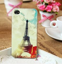 Eiffel Tower Exquisite Back Cover for iPhone 4S - Apple Accessories - Funny Gadgets Free shipping