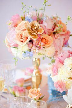 Flores: combinação suave e romântica
