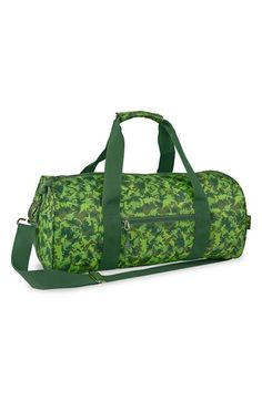 Free shipping and returns on Bixbee 'Large Dino Camo' Sports Duffel Bag (Boys) at Nordstrom.com. Fun, colorful and always cool, this delightful dino-camo duffel bag is perfect for school, sports and backyard adventures. Perfectly sized to carry everything he needs, the bag features an easy-grip comfort handle, an optional, adjustable shoulder strap and plenty of pockets to keep him organized. Carnivorously cool and built to last.