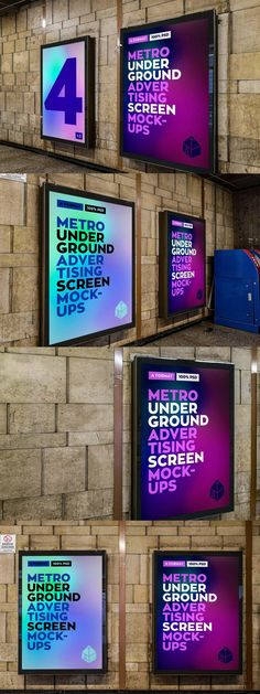 Metro Underground Ad Screen MockUp #PrintTemplate #psd #ProductMockup #design #behance #template #GraphicDesigner #TemplateDesign #GraphicDesign #PSDTemplates #PrintDesign #mockup #PrintMockup #designer #mockups #graphics #MockupTemplate Mockup Templates, Print Templates, Print Design, Graphic Design, Advertising Photography, Fonts, Typography, Behance, Ads