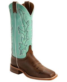 teal justin boots | Justin Teal Bent Rail Cowgirl Boots - Square Toe