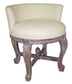 Perla Vanity Stool - Benches/Ottomans, Custom Benches
