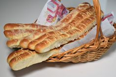 Sašina kuhinja | Slanci recept bolji nego iz pekare | Sašina kuhinja Bosnian Recipes, Croatian Recipes, Bosnian Food, Baking Recipes, Cookie Recipes, Fresh Bread, Ciabatta, No Bake Cake, Hot Dog Buns