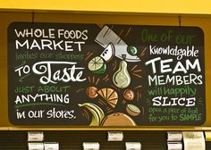Chalkboard signage. Photo by Spencer Charles.