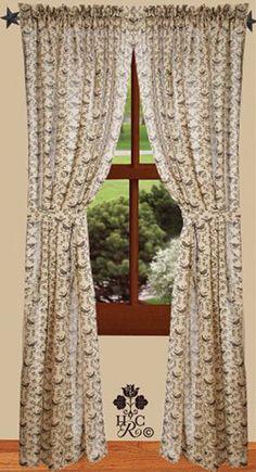 Heirloom Oat Curtain Panel 40
