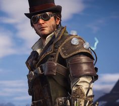 This is by far my least favorite outfit in the game I do not like it Jacob And Evie Frye, Assassins Creed Jacob, Dark Edgy Fashion, All Assassin's Creed, Edwards Kenway, Fantasy Heroes, Steampunk Clothing, Geek Girls, Lady And Gentlemen