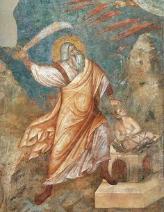 Жертвоприношение Авраама. 1290 г. Ассизи, церковь св.Францисска
