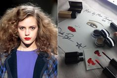 Marc by Marc Jacobs FW13 Hair & Makeup inspiration, via Shiseido & Redken