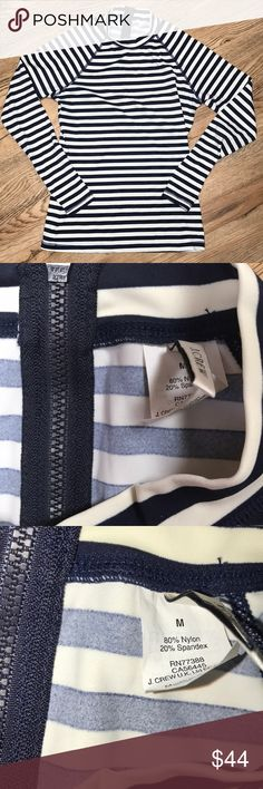 J Crew Striped Rash Guard Size Medium New without tags. Nonsmoking home never been worn.  Open to reasonable offers. J. Crew Swim
