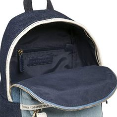 Resultado de imagen para Tommy Hilfiger TH Logo Tape Mini Backpack Denim Tommy Hilfiger Luggage, Mini Backpack, Tape, Backpacks, Logo, Denim, Fashion, Accessories, Moda