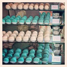 Tiffany Blue and White Macarons