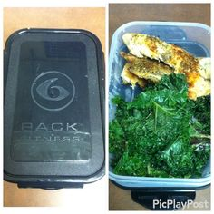 No excuses! You make time for the things that are important to you. #mealprepping is essential to reach your goals. #6packfitness saves my on my lunch breaks. this is 4oz of backed tilapia and 60g of Kale.  Macros: 3F. 7C. 22P.  #mealprep #eatclean #nutrition #lowcarb #lunch #healthy #fitness #gymrat #traindirty #liftheavy #workhard #motivated #dedicated #macros by _deadliftsanddonuts_