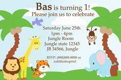 Safari Birthday Invitation Template Animal Themed Party Zoo Themes