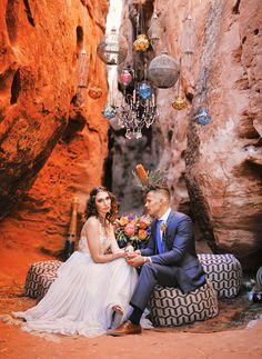 Moroccan-meets-Mediterranean  wedding ideas
