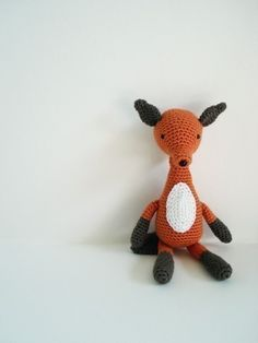 crochet pattern fox amigurumi kawaii plushie by xmoonbloom