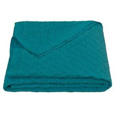 Delectably-Yours.com Turquoise Linen Quilt Blanket by HiEnd Accents