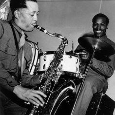 Lester Young and Papa Joe Jones