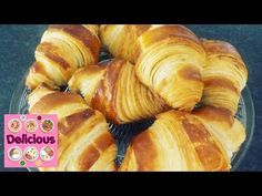Homemade Croissant Recipe - How to make croissant - French Butter Easy tasty Croissant - Delicious - YouTube