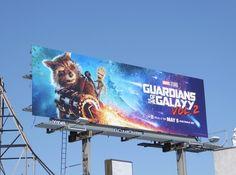 Guardians of the Galaxy Vol. 2 Rocket and Groot billboard