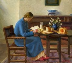 London breakfast, 1935 by Nora Heysen born January 11, 1911 in Hahndorf, Australia died December 30, 2003 (92) in Sydney, Australia