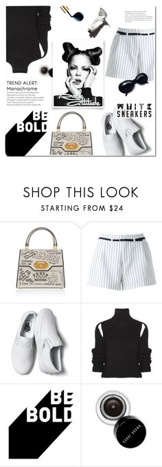 """""""Rock Attitude"""" by eilselrenrag ❤ liked on Polyvore featuring Dolce&Gabbana, Guild Prime, Vans, Calvin Klein 205W39NYC, WALL, Bobbi Brown Cosmetics, Garance Doré, blackandwhite and whitesneakers"""