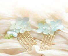紫陽花かんざし ヘアコーム