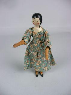 Rare Tynietoy wooden peg doll.