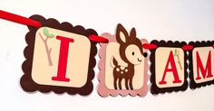 A personal favorite from my Etsy shop https://www.etsy.com/listing/228121736/woodland-party-highchair-banner-i-am-1