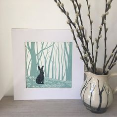 Discover recipes, home ideas, style inspiration and other ideas to try. Hare Pictures, Green Pictures, Linocut Prints, Art Prints, Lapin Art, Art Mignon, Linoprint, Art Original, Art Mural