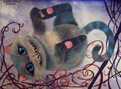 Cheshire Cat by Stupiddoll93.deviantart.com on @DeviantArt #AliceInWonderland