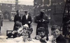 Street party for 1953 coronation, Moss Side, 1953 by mcrarchives, via Flickr