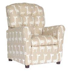Brazil Furniture Stretch 4 Button Child Recliner - Maple - 400-STRETCH MAPLE