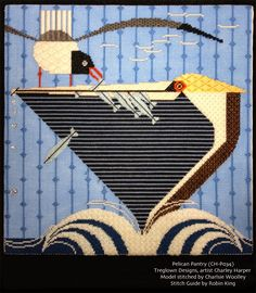 Needlepoint Study Hall: more Charley Harper stitch guides