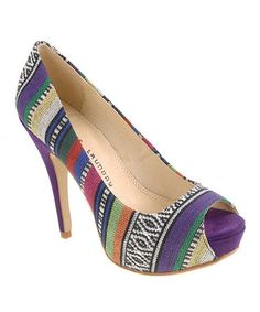 Take a look at this Purple Tribal Hotness Pump by Chinese Laundry on #zulily today!