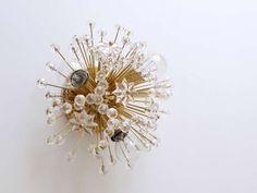 Emil Stejnar Vienna Gold-Plated Snowball Sputnik Wall Lights or Flush-Mounts by Rupert Nikoll