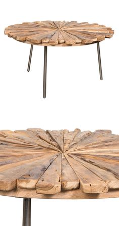 Meet your new favorite standout piece. Responsibly made from recycled teak wood, this  Pinwheel Coffee Table boasts a mesmerizing, textured tabletop design. With warm wood finishing and natural wear, t...  Find the Pinwheel Coffee Table, as seen in the Vibrant Adobe Style Collection at http://dotandbo.com/collections/vibrant-adobe-style?utm_source=pinterest&utm_medium=organic&db_sku=116685