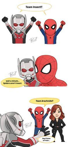 Team Arachnids! by pencilHeadno7.deviantart.com on @DeviantArt