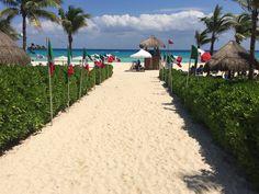 Your favorite path is all dressed up for our Mexican Party tonight  Tu camino favorito a la playa está todo decorado para nuestra Fiesta Mexicana de esta noche