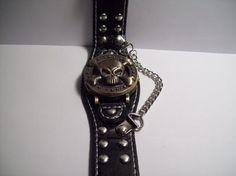 Black & Gold Skull Watch {Free Shipping}