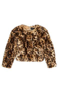 Simone Rocha Leopard Faux Fur Jumper