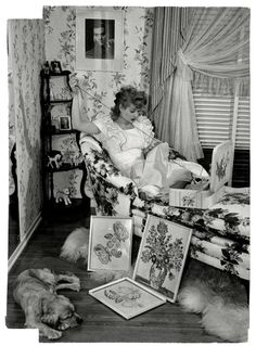 At home with Lucy, 1940's.