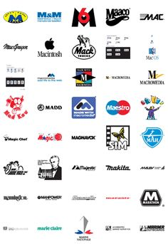 Free Vector Logos: Famous Company Logos and Trademarks – Letter M