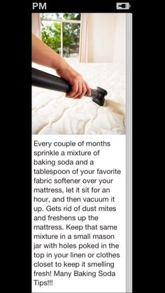 Clean your mattress and get rid of dust mites